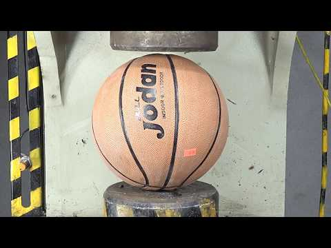 500 Tons Of Ultimate Hydraulics Can Explode Basketball?