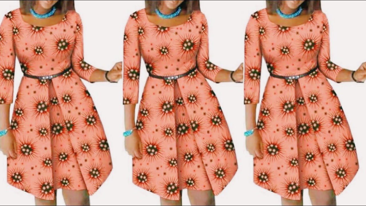 Download How to cut and sew a beautiful A line short dress with inverted box pleat