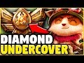PRETENDING TO BE A BRONZE TEEMO MAIN WHILE BEING COACHED! **THE COACH ALMOST CAUGHT ME!