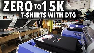 How to Go from Printing ZERO to 15K T-shirts with DTG Printing