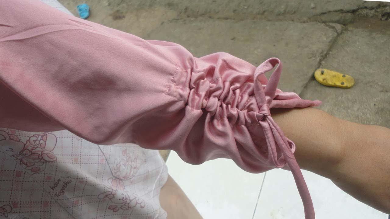 Cara Menjahit Lengan Baju Yang Ujungnya Bisa Di Serut