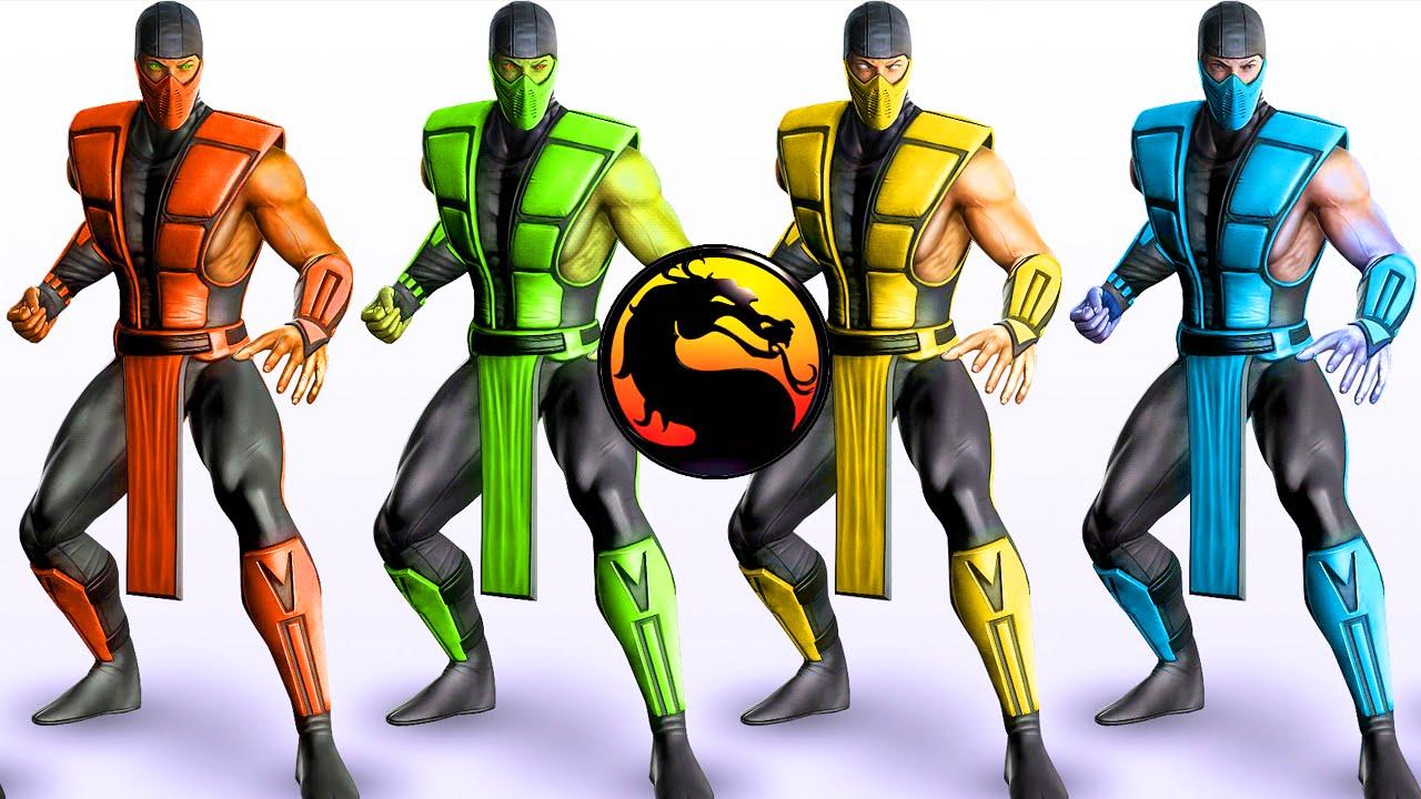 The Klassic Ninjas Mortal Kombat X Scorpion Subzero Reptile