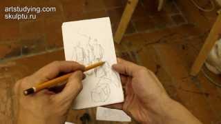 Обучение рисунку. Введение. 12 серия: упражнения в скетчбуке и ответы на вопросы