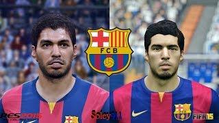 PES 2015 vs FIFA 15 Barcelona Faces comparison PC version !