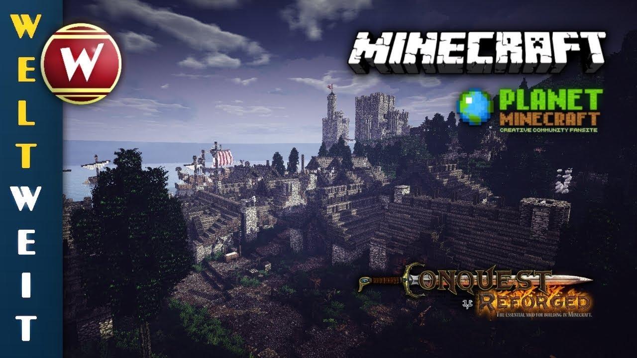 Der Hafen Der Wikinger Mit Burg Die Welt Von Talset Winthor - Minecraft wikinger hauser