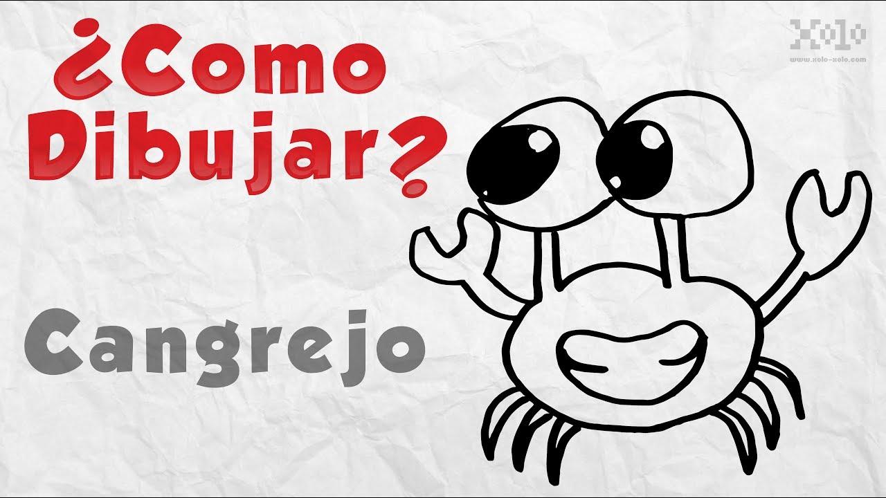Como dibujar un cangrejo - Videos Aprende - YouTube