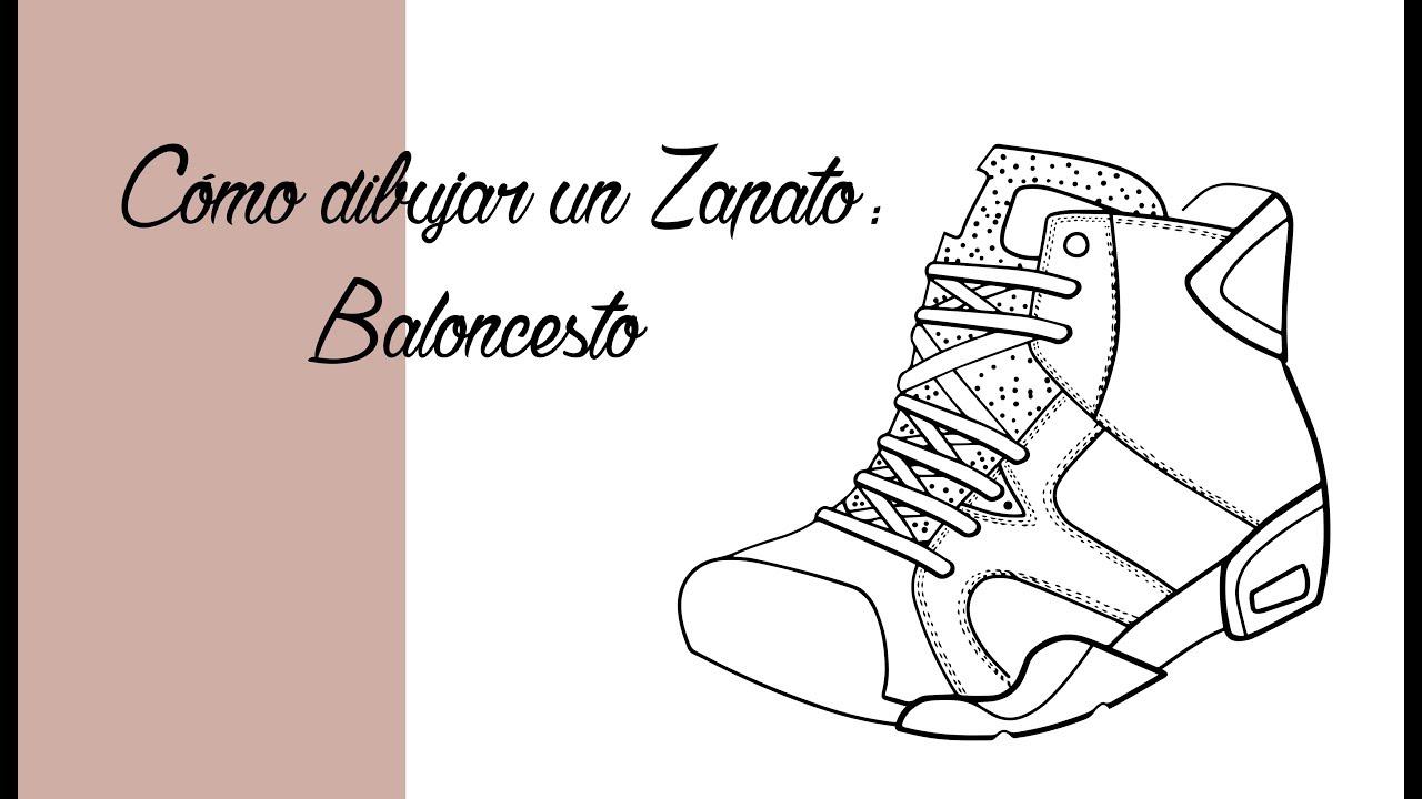 Cómo dibujar unas zapatillas de Baloncesto Tutorial | Español - YouTube