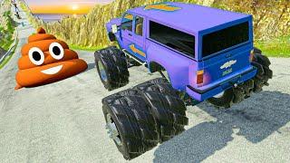 MADNESS Downhill Racing And Crashing #5 BeamNG Drive Cars Descending Down a Dangerous Hill screenshot 3
