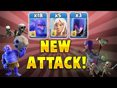 18 Max Bowler + 5 Healer + 3 Witch Best Bowler Ground Army 3 Star Th12 War Bases | Clash Of Clans