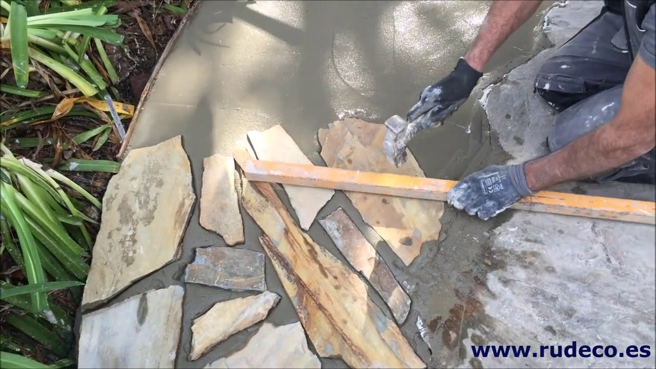 Colocaci n de pavimento de piedra natural v deo 1 youtube - Colocacion piedra natural ...