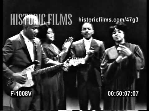 "THE STAPLE SINGERS featuring POPS STAPLES ""GREAT DAY"" 1963"