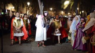 Vía Crucis viviente en Granada 2017