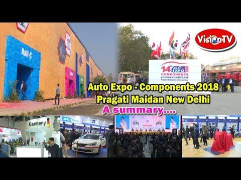 AUTO EXPO-COMPONENTS 2018 exhibition. Vision TV World.