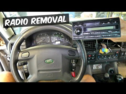 land rover discovery radio removal replacement - youtube  youtube