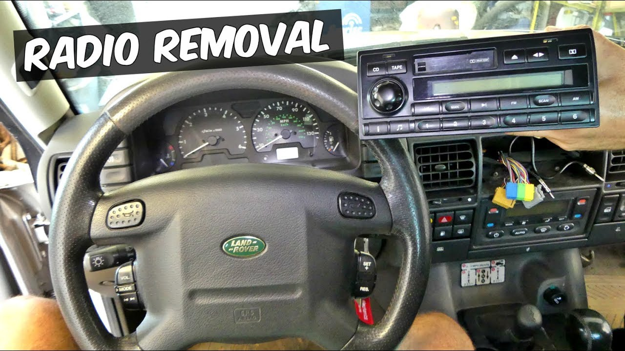 land rover discovery radio removal replacement - youtube discovery 1 radio wiring diagram  youtube