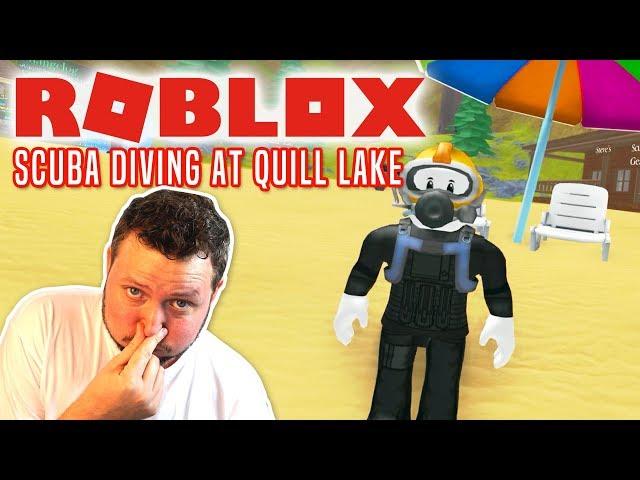 SKATTEJAGT UNDER VANDET! - Roblox Scuba Diving At Quill Lake Dansk