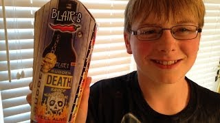 11-yr-old eats Blair's Sudden Death sauce : Hot Sauce Review, Crude Brothers
