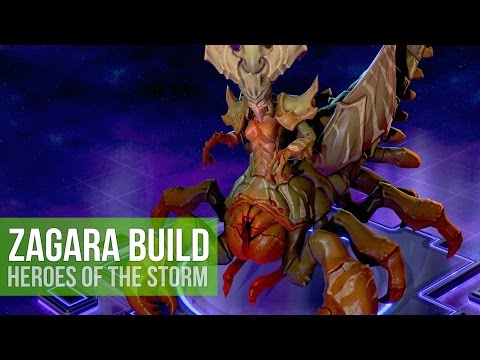 "Heroes of the Storm: ""Team Fighter"" Zagara Talent Build! (Gameplay)"