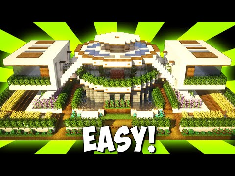Minecraft How To Build A Modern Mansion House Tutoria 3gp Mp4 Mp3 Flv Indir