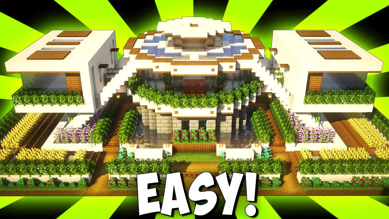 Minecraft: Big Modern House / Mansion Учебник — [ How to Make Realistic Modern House ] 2021 г.