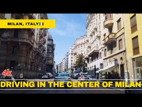Milan City Center Driving [4K]🇮🇹 😍| #Driving in Italy🇮🇹 #Driving in Milan♥️🌁🚙 #Milano Driving