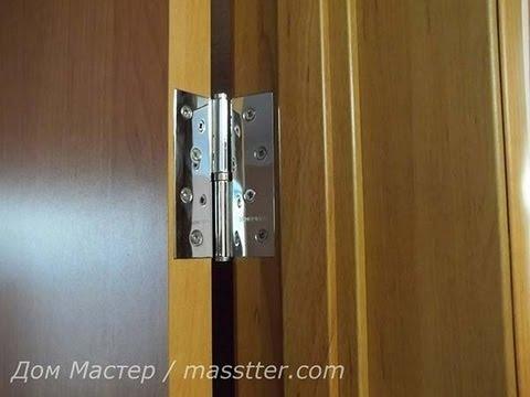 Врезка дверных петель на межкомнатную дверь. Insert door hinges on the door