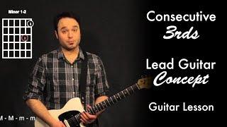 consecutive 3rds | lead guitar concept