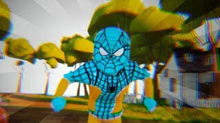 KID PLAYER & BLACK PANTHER PAINT SPIDERMAN BLUE - Hello Neighbor Colors Mod
