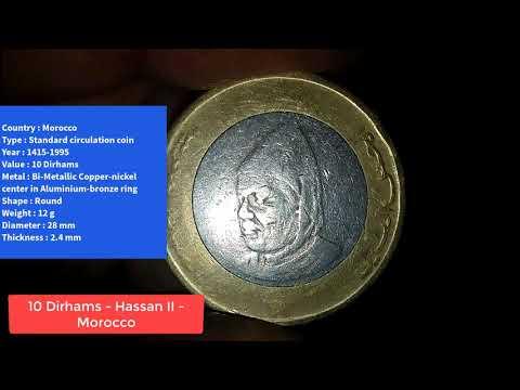 10 Dirhams - Hassan II - Morocco