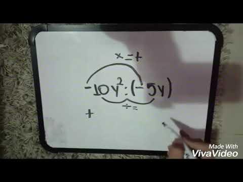 Cociente de expresiones Algebraicas-Monomio dividido Monomio-8voM