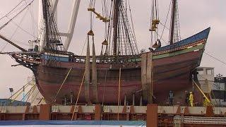 VOC-schip de Halve Maen in Nederlands water - RTL NIEUWS