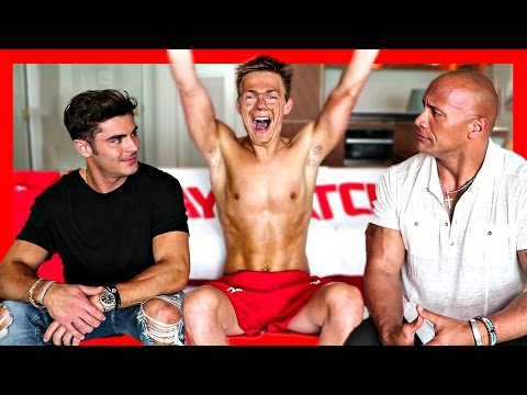 MY BAYWATCH AUDITION  ft. The Rock & Zac Efron