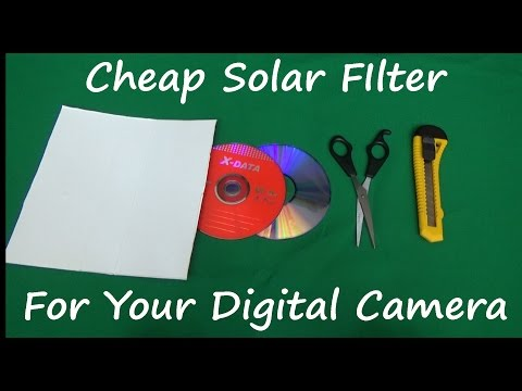 How to make a solar filter for your camera using DVD-s