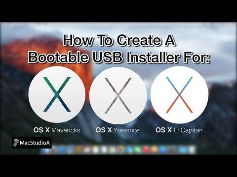 Create OS X Mavericks/Yosemite Or El Capitan USB Boot Disk