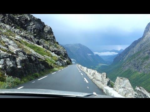 Driving Trollstigen in Thunder Storm (FULL HD HQ, Norway)