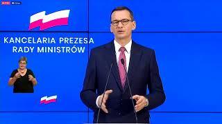 Konferencja prasowa premiera Mateusza Morawieckiego i minister Marleny Maląg