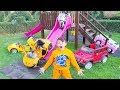 ALİNİN ARABALARI EVDEN KAÇTI Toy Cars Escaped Kid Ride on Power wheels