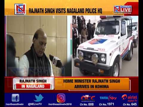 HM Rajnath Singh launches Emergency Response Support System in Nagaland