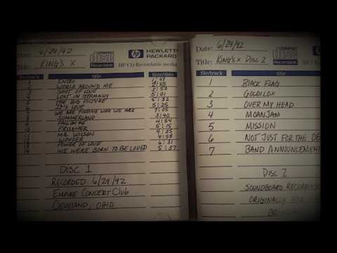 King's X Live 1992 Empire Concert Club Audio Only Bootleg Cleveland, Ohio
