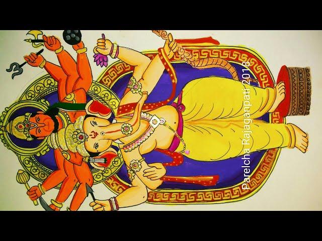 Ganesh chaturthi special drawing and painting of Parelcha Rajaganpati 2018