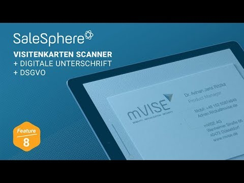 Salesphere Sales Enablement Platform Visitenkarten Scanner