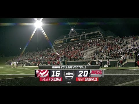 2018 GSC Football Game of the Week Digital Recap: West Alabama at North Greenville. (September 29)