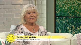 Christina Schollin om att vara influencer vid 80: Jag fick googla vad en sådan  - Nyhetsmorgon (TV4)