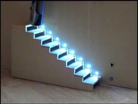 Genial Automatic Staircase Lighting ( Automatic Treppenbeleuchtung)   YouTube