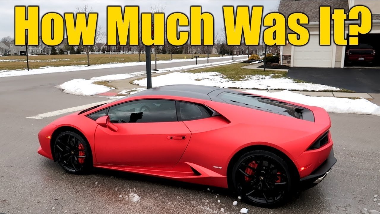 How much is a lamborghini huracan