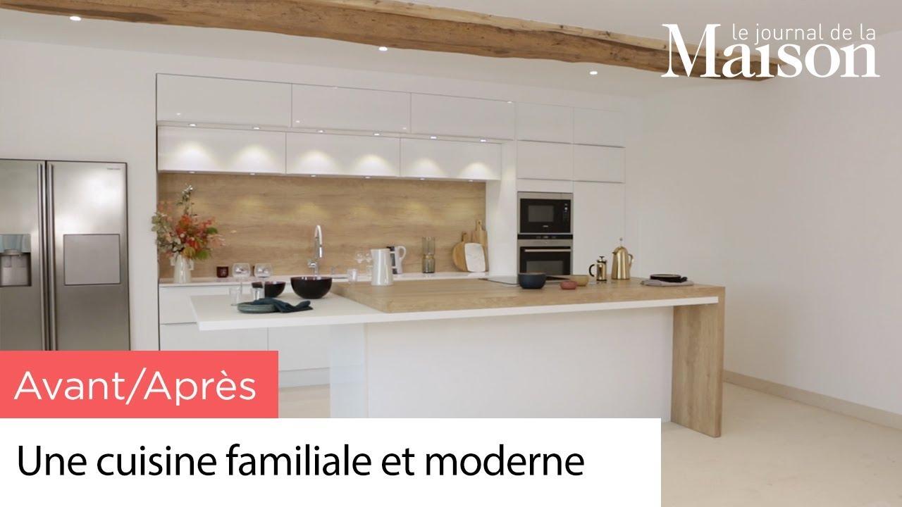 Avant Apres Une Cuisine Familiale Et Moderne Youtube