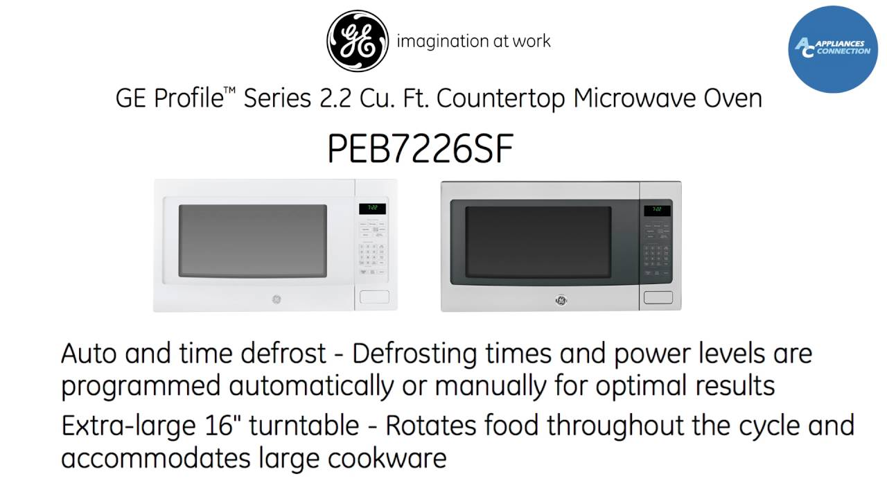 ge profile countertop microwave oven peb7226sf at appliancesconnection com