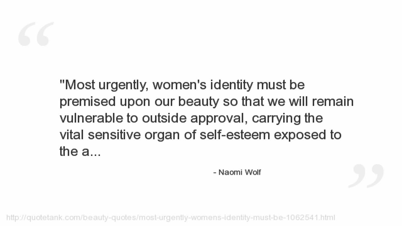 a literary analysis of the beauty myth by naomi wolf Naomi wolf will never forget a certain fat boy named bobby he was her classmate at a hebrew school in.