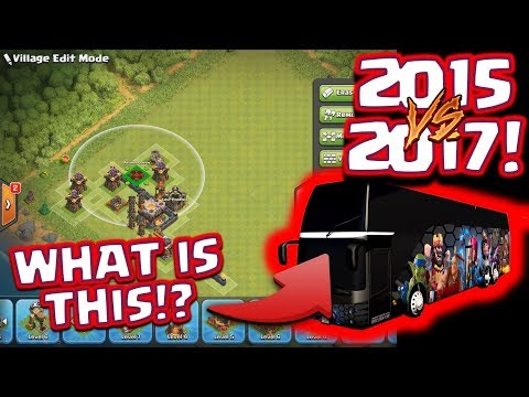 Clash Of Clans - 2015 Troll Base V's Modern Players! (Lets build a GAMING BUS!)