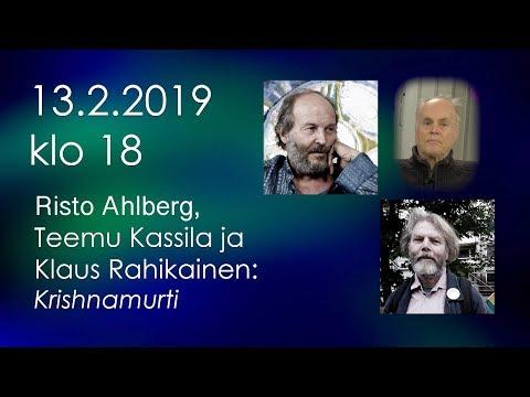 RTV:n luennolla sarjassa: Kassila, Rahikainen ja Ahlberg - Krishnamurti